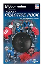 Mylec Practice Hockey Puck, Black (Pack of 6) by Mylec