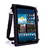 USA Mechanism FlexARMOR X Tablet Cover Carrying Occurrence with Touch Capacitive Screen Protector and Adjustable Apply oneself Strap for Microsoft Surface , Samsung Tab 3 (10.1 Inch) , Coby Kyros , Archos & More