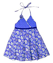 Caca Cina Girls Hearts Print Cotton Dress