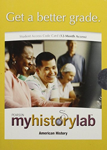 MyHistoryLab with Pearson eText - Valuepack Access Card - For US History, 2-Semester