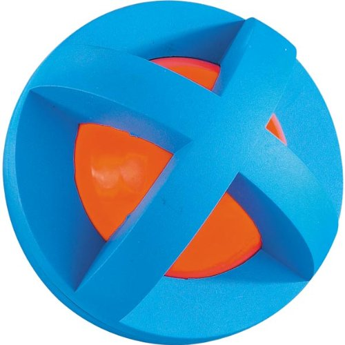 Image Multi-Pet Plastic and Rubber Boingo Ball Dog and Cat Toy, Small, Colors Vary