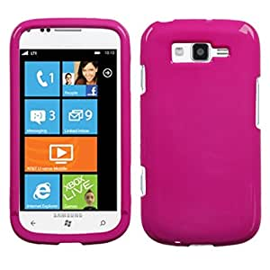Solid Hot Pink Faceplate Hard Plastic Protector Snap-On Cover Case For Samsung Focus 2 i667