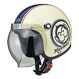 Honda(ホンダ) バイクヘルメット ジェット モンキー アイボリー ブルー M(57-58センチ未満) 0SHGC-JM1A-WBM