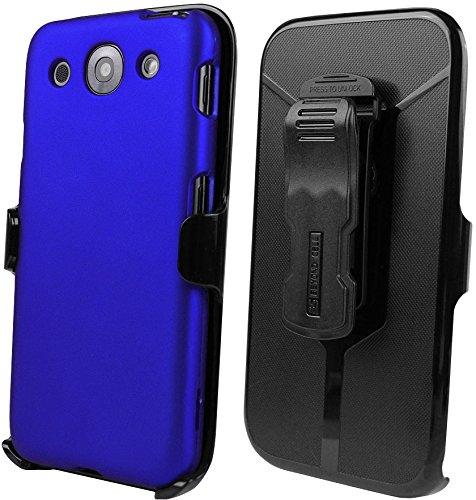 Beyond Cell Kombo Case and Holster Belt Clip Combo for LG Optimus G PRO E980 - Non-Retail Packaging - Dark Blue