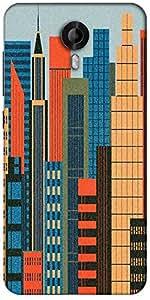 Snoogg Mumbai Skyline 2788 Designer Protective Back Case Cover For Micromax Canvas Nitro 3 E455