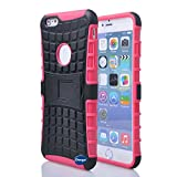 Nancy's Shop Iphone 6 Plus 5.5 Inch [Kickstand] Case,deego New Release [Heavy Duty] Combo Armor Defender [Dual Layer] Grip Case with Prime [Kickstand] for Apple Iphone 6 Plus 5.5'' Screen Smartphone(at&t, Verizon, T-mobile, Sprint,) - (Nancy's Shop Kickstand Case - Rose Pink)