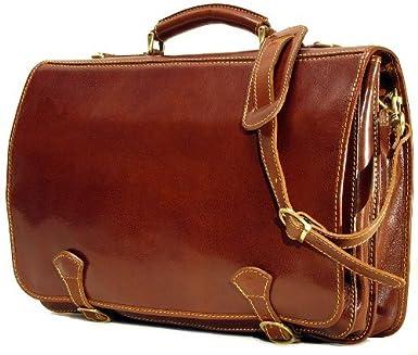Cenzo Italian Leather Messenger Bag 2016