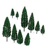 10-Stcken-19-Zoll-63-Zoll-Zug-Set-Landschaftsmodell-Pyramidal-Bume-Mastab-150