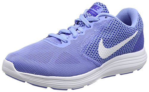 Nike Women's Revolution 3 Chalk Blue/White/Concord Running Shoe 8 Women US (Nike Shoes Blue compare prices)