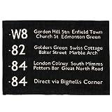 バスステーションラグ BUS STATION RUG [ 50×70cm / ブラック ]