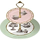Creative Tops Katie Alice Cupcake Couture 2-Tier Cake Stand in Hat Box Multi-Colour