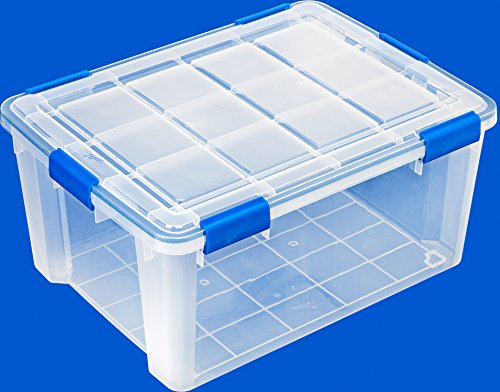 Ziploc Weathershield 60 Quart Storage Box 4 Pack Clear