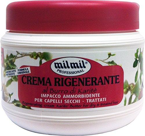12 x MIL MIL Crema Capillare Rigenerante Burro Di Karité 500 Ml