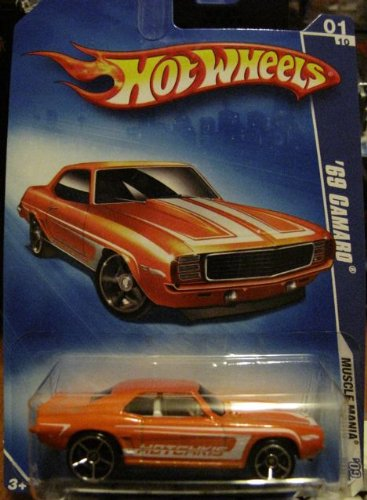 Hot Wheels 2009 '69 Camaro Muscle Mania 1/10 ORANGE #77 KMART
