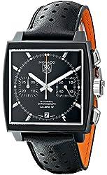 TAG Heuer Men's THCAW211MFC6324 Monaco Analog Display Swiss Automatic Black Watch