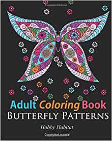 Adult coloring books butterfly zentangle patterns 31 Coloring books for adults hobby lobby