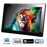 2014 New Contixo 10.1'' Dual Heart Processor 1.6GHz Google Android 4.2 Tablet PC, Dual Camera, HD 1024x600 Make visible Multi-Touch Panel, Google Coverage Store Pre-loaded, HDMI, Wifi, Bluetooth, 16GB