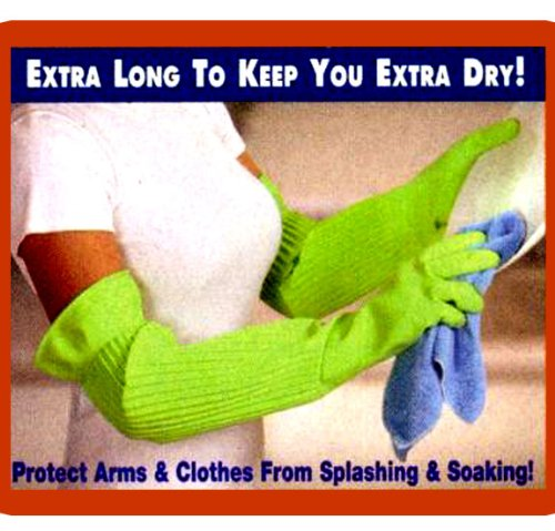 """Arms Length Rubber/Latex All Purpose Cleaning Glove (Pair 22.8""""Length)"""