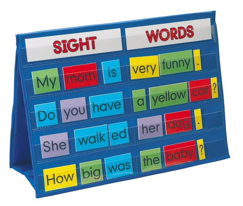 Smethport Tabletop Pocket Chart Sight Words (Classroom Reading Charts compare prices)