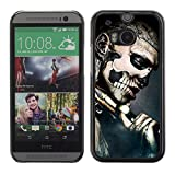 Case699 Phone Accessory / Gothic Skull Tattoo / Hard Protective Case Cover for HTC One M8 2014