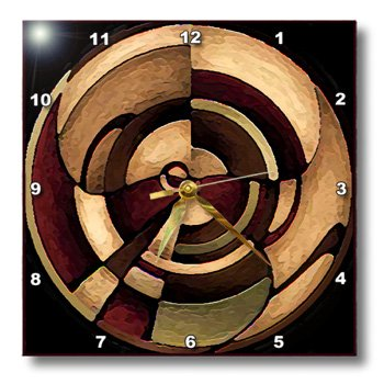 3dRose dpp_4050_1 LLC Digital Artwork Design Wall Clock, 10 by 10-Inch