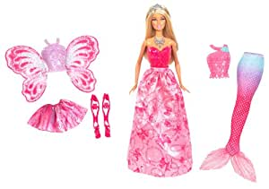 Mattel Barbie X9457 - 3-in-1 Fantasie Barbie, Puppe