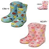 (ミキハウス)MIKIHOUSE ホットビスケッツ【HOT BISCUITS】働く車&お花♪総柄レインブーツ(長靴) (13cm) (ブルー)