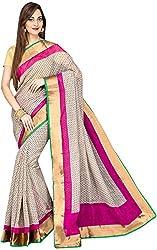 Evila Women's Raw Silk Saree (RSE-193, Multi)
