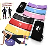 Resistance Loop Bands Set w/FREE EBOOK- Best Home Gym Fitness & Physical Therapy Full Body Exercise - Leg Shoulder Rehabilitation Band - Pilates - Yoga - Elastic Stretch Workout - Exercise Equipment
