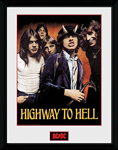 GB Eye Ltd, AC/DC, Highway to Hell, Foto incorniciata, 40 x 30 cm