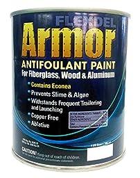 Flexdel Armor Copper-Free Antifouling Bottom Paint (Black, Quart) 13001