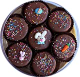 513z7mIUanL. SL160  Milk Chocolate Dipped Oreo Cookies with Easter Bunny Rabbit Easter Eggs  Easter Gift