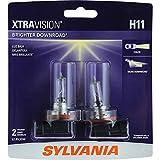 SYLVANIA H11 XtraVision Halogen Headlight Bulb, (Contains 2 Bulbs)