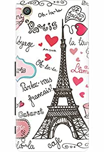Noise Designer Printed Case / Cover for Sony Xperia X Dual / Patterns & Ethnic / Paris Design