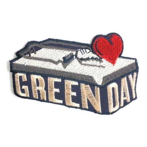 GREEN DAY Heart Trap Punk Rock patches Embroidered iron/sew on Patch to Cloth, Jacket, Jean, Cap, T-shirt and Etc. /Size 9x5.7 cm (Sew On Patches Punk compare prices)