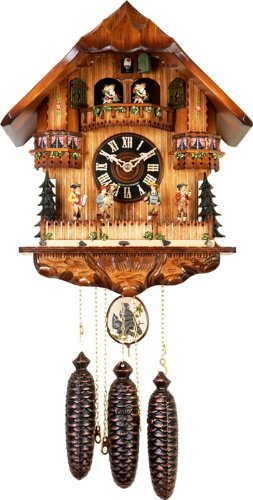 River City Clocks MD860-16 Eight Day Musical Cuckoo Clock with Dancers, Oompah Band Moves Back And Forth, 16-Inch Tall