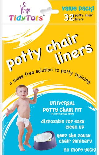 TidyTots-Disposable-Potty-Chair-Liners-Value-Pack-Universal-Potty-Chair-Fit-fits-most-potty-chairs-32-Liners