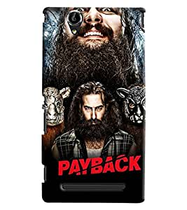 Blue Throat Payback Star Cast Printed Designer Back Cover For Sony Xperia T2 Ultra