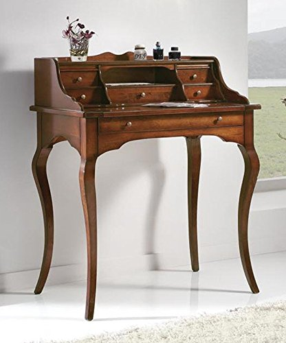 Classic Writing Desk with Drawers – Walnut