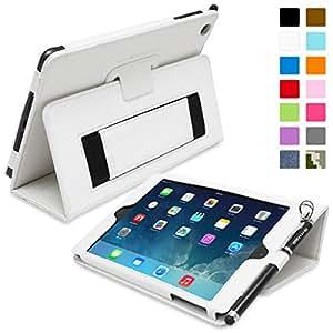 Snugg ™ - Étui Pour iPad Mini & Mini 2 - Smart Case Avec Support Pied Et Une Garantie à Vie (En Cuir Blanc) Pour Apple iPad Mini & Mini 2