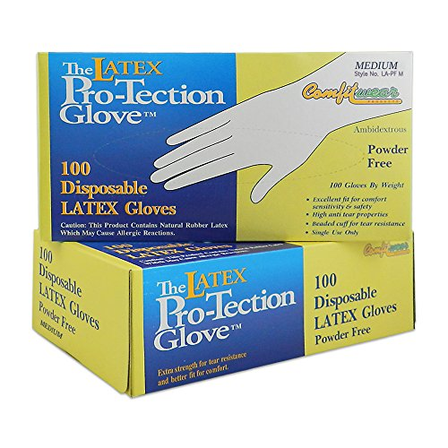 pack-of-2-comfitwear-disposable-latex-gloves-powder-free-size-medium-100-count-per-box