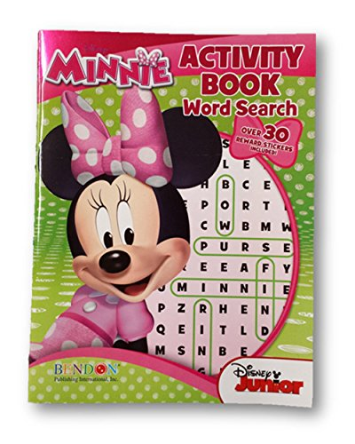 Minnie Mouse Activity Book Word Search with Over 30 Stickers - 1