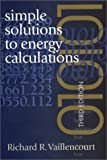 img - for Simple Solutions to Energy Calculations: 3rd (Third) edition book / textbook / text book