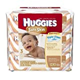 Huggies Soft Skin Baby Wipes, Soft Pack, with Shea Butter 56 Ct (3 Packs) 168 Total Wipes by Kimberly -Clark Corp.