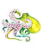 Tallenge Art For Kids - Giant Green Octopus - A3 Size Rolled Poster For Kids Room Decor