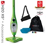 H2O Mop X5 Green Steam Mop + Elite Pack by Thane Direct