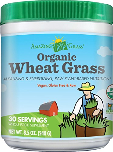 Amazing Grass Organic Wheat Grass, 30 Servings, 8.5 Ounces (Diet Water Mix compare prices)