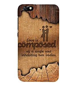 Love Quotation 3D Hard Polycarbonate Designer Back Case Cover for Huawei Honor 4X :: Huawei Glory Play 4X