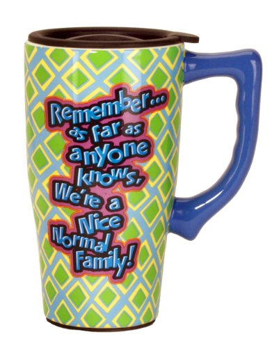 Spoontiques Nice Normal Family Travel Mug, Multi Colored