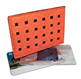 DataSafe Eco-friendly RFID Shielding Identity-theft Protection Credit Card Holder (orange/chocolate)